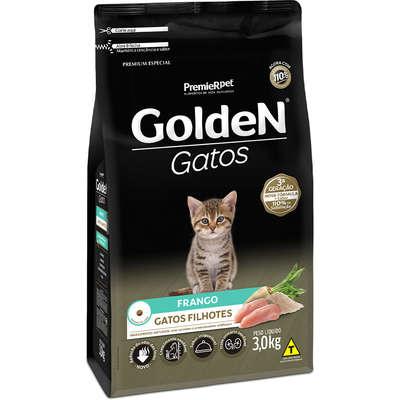 Ração Golden Gatos Filhotes Frango 3k