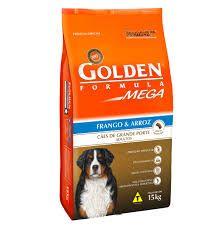Ração Golden Mega para Cães Adultos de Raças Grandes Sabor Frango e Arroz 15 k