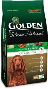 Ração Golden Seleção Natural Frango e Arroz Cães Adultos 15K
