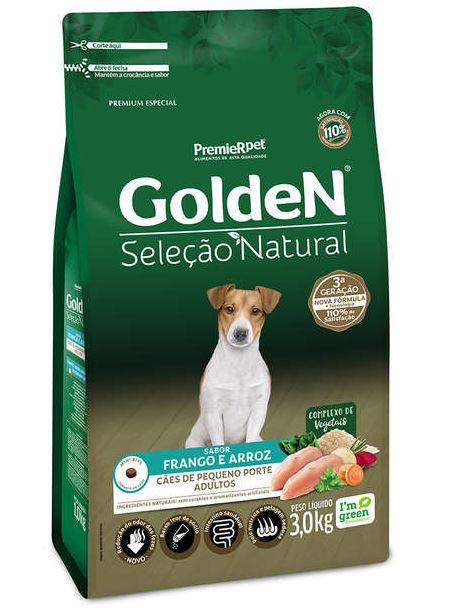 Ração Golden Seleção Natural para Cães Adultos pequeno porte  3K