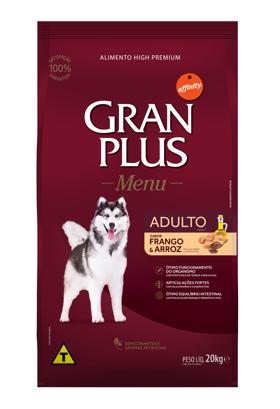 Ração Granplus Adulto sabor Frango e Arroz 20k