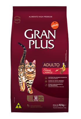 Ração Granplus Gatos Adulto Sabor Carne e Arroz 10.1