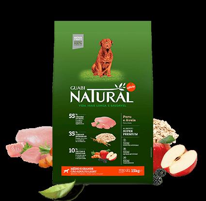 Ração Guabi Natural Cães Adultos Raças Grandes e Gigantes Light - 15kg