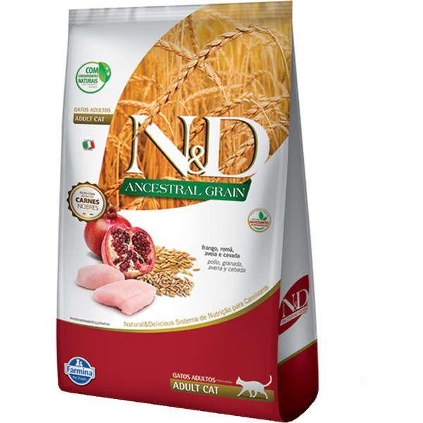 Ração N&D Ancestral Grain Frango Gatos Adultos 1.5k