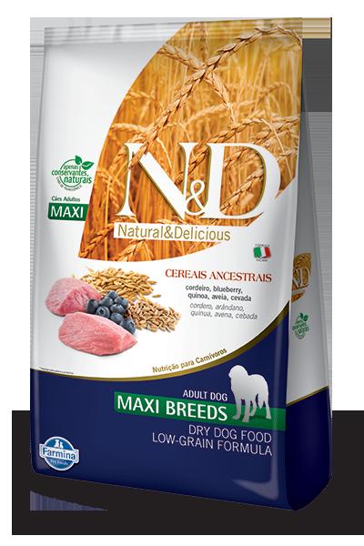 Ração N&D Cereais Ancestral Grain maxi Breds Adult 10.1 k