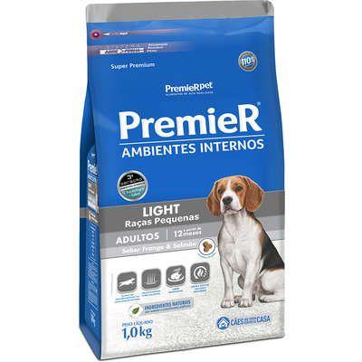 Ração Premier Ambientes Internos Cães Adultos Light 1K