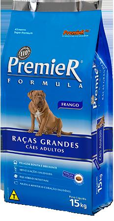 Ração Premier Fórmula Para Cães Adultos De Raças Grandes Sabor Frango 15 k