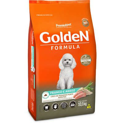 Ração Premier Golden Formula Cães Adultos Frango e Arroz Mini Bits 10k