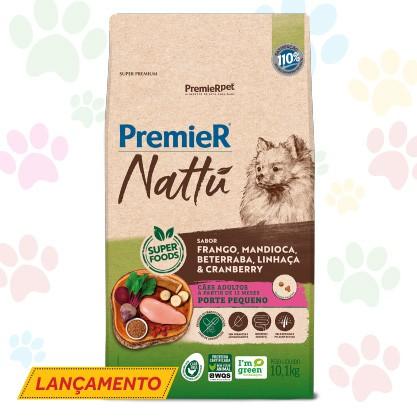 RAÇÃO PREMIER NATTU PARA CÃES ADULTOS DE PORTE PEQUENO SABOR MANDIOCA 10.1 kg