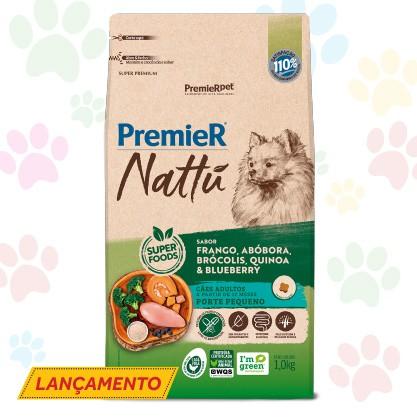 RAÇÃO PREMIER NATTU PARA CÃES ADULTOS DE PORTE PEQUENO SABOR MANDIOCA 1.0 kg
