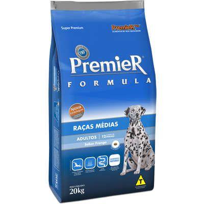 Ração Premier Pet Formula Frango Cães Adultos Raças Médias 20k