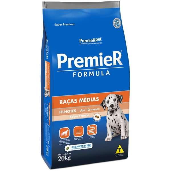 Ração Premier Pet Formula Frango para Cães Filhotes de Raças Médias 20kg