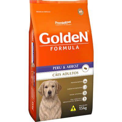 Ração Premier Pet Golden Formula Peru & Arroz para Cães Adultos 15 k