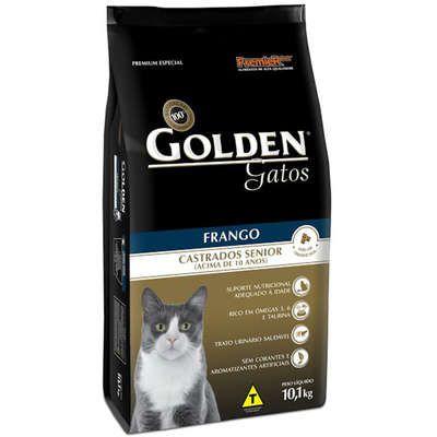 Ração Premier Pet Golden Gatos Castrados Sênior Frango 10K