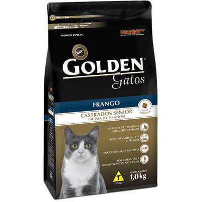Ração Golden Gatos Castrados Sênior Frango 1k