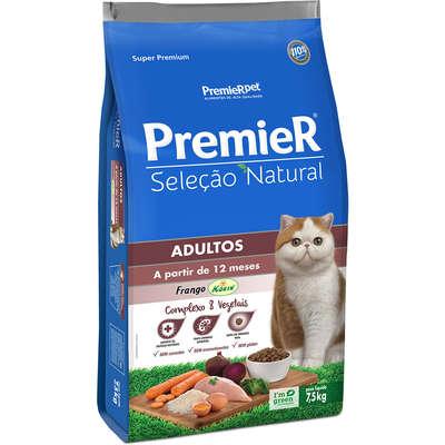Ração Premier Seleção Natural para Gatos Adultos -7.5k