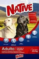 Ração Premium Native Adulto Carne 25 Kg com 23% Proteína