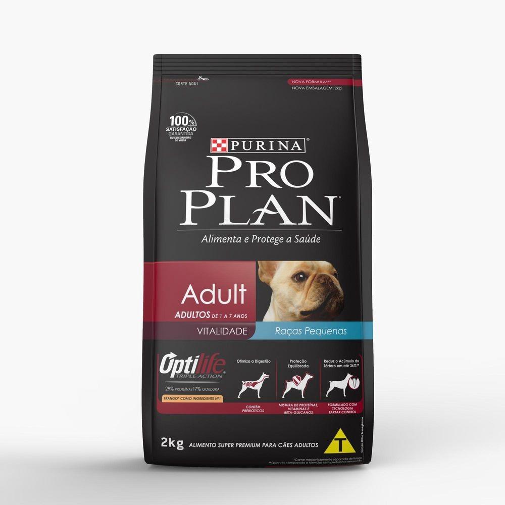 Ração Pro Plan para Cães Adultos de Raças Pequenas Sabor Frango e Arroz - 7,5Kg