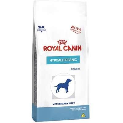 Ração Royal Canin Canine Veterinary Diet Hypoallergenic para Cães Adultos com Alergias 2K