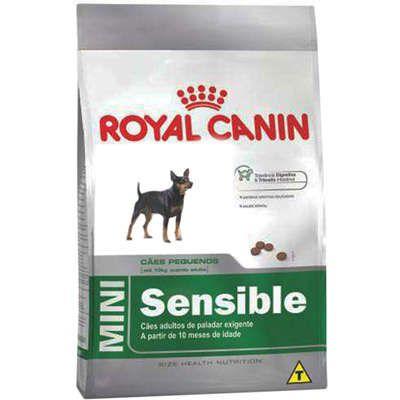 Ração Royal Canin Mini Sensible para Cães Adultos de Raças Pequenas de Paladar Sensível 1k
