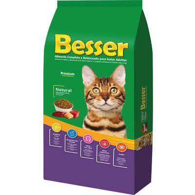 Ração Seca Besser Natural Premium para Gatos Adultos 10.1k