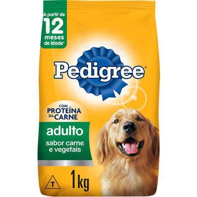 Ração Seca Pedigree Carne e Vegetais para Cães Adultos Raças Médias e Grandes 1K