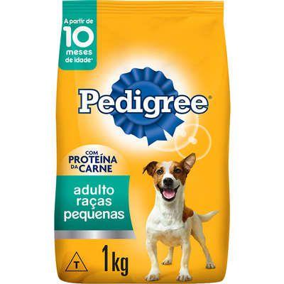 Ração Seca Pedigree para Cães Adultos Raças Pequenas 1k
