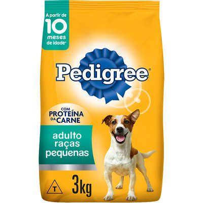 Ração Seca Pedigree para Cães Adultos Raças Pequenas 3K