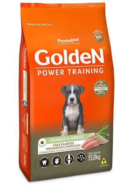 Ração Seca PremieR Pet Golden Power Training Cães Filhotes Frango e Arroz - 15 Kg