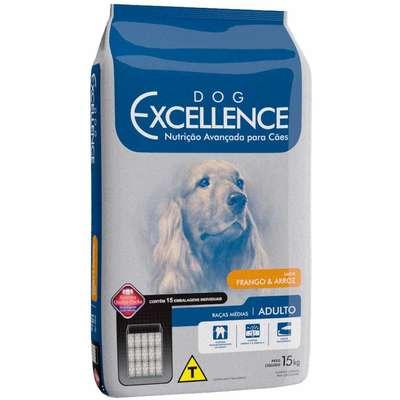 Ração Dog Excellence Cães Adultos Raças Médias Frango e Arroz 15 k