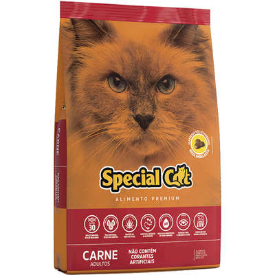 Ração Special Cat Premium para Gatos Adultos Carne 10,1k