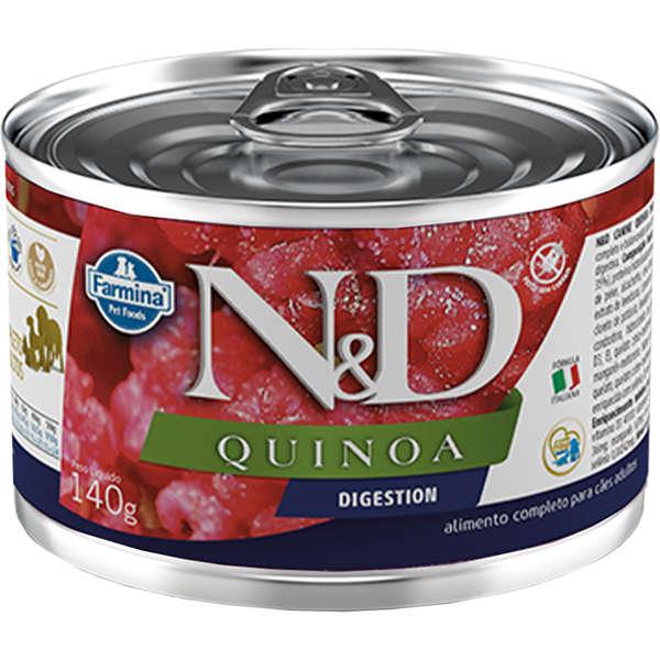 Ração Úmida Lata Farmina N&D Quinoa Digestion para Cães Adultos 140g