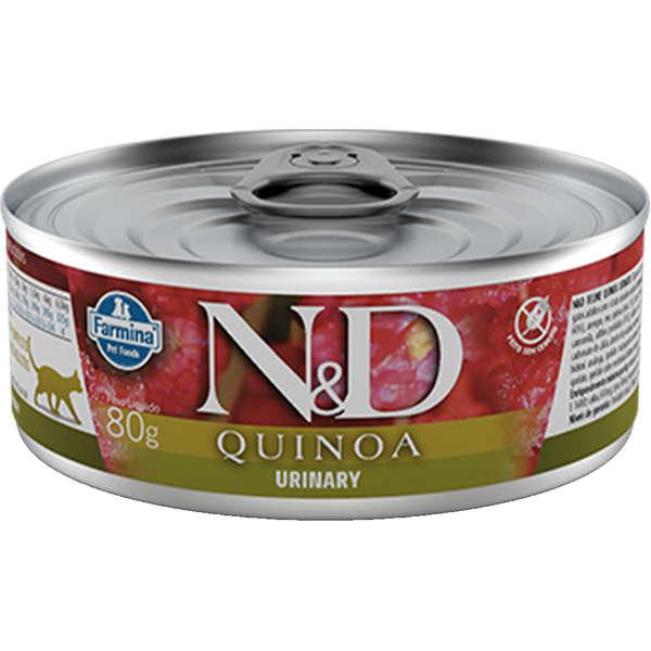 Ração Úmida Lata Farmina N&D Quinoa Urinary para Gatos Adultos 80g