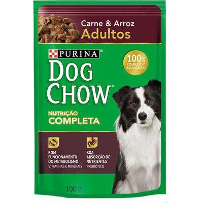 Ração Úmida Nestlé Purina Dog Chow Carne e Arroz para Cães Adultos
