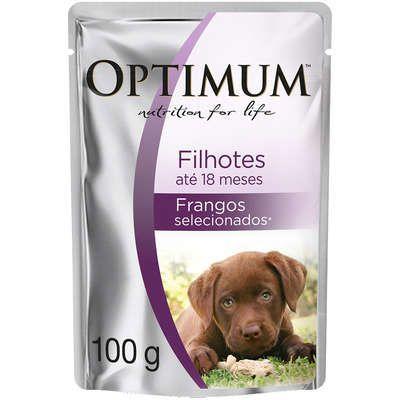Ração Úmida Optimum Sachê para Cães Filhotes Frango 100G