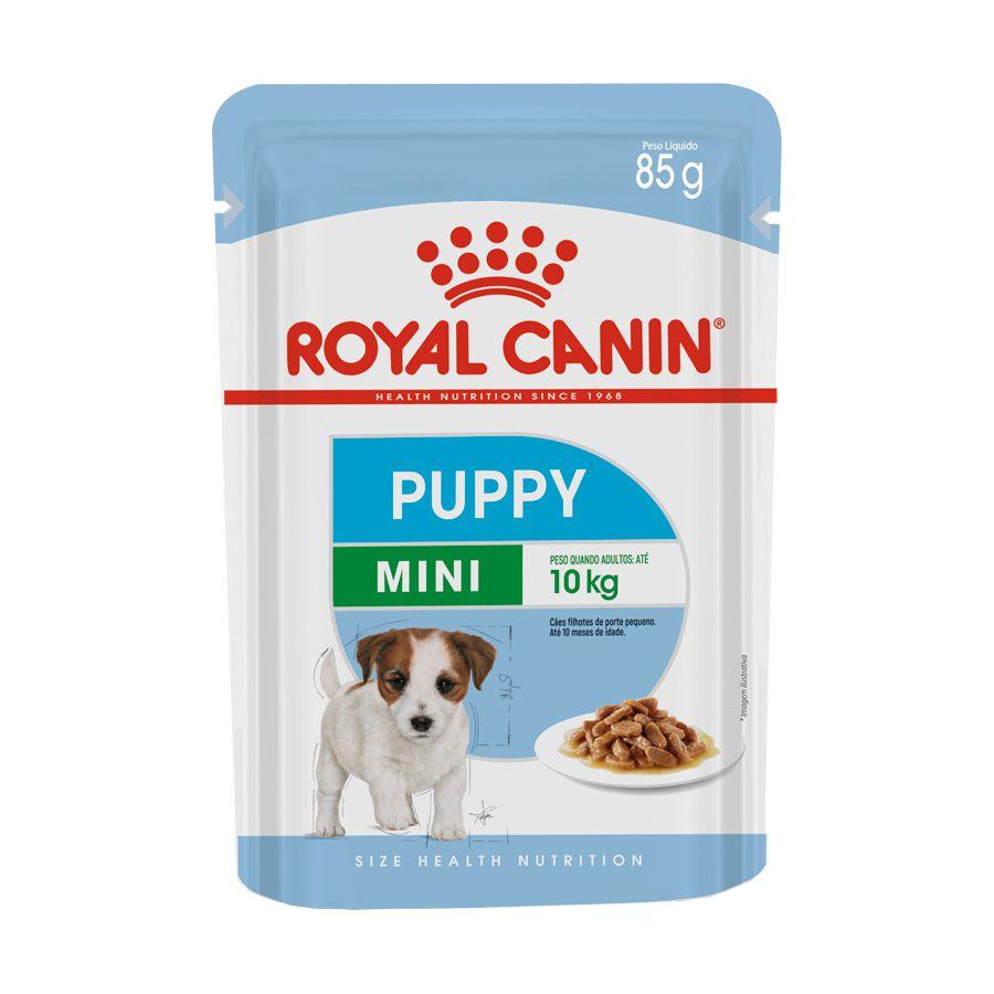 Ração Úmida Royal Canin Sachê para Cães Mini Puppy Filhotes 85g