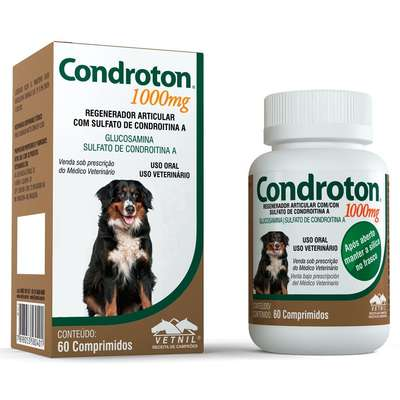 Regenerador Articular Vetnil Condroton 60 Comprimidos 1000ml