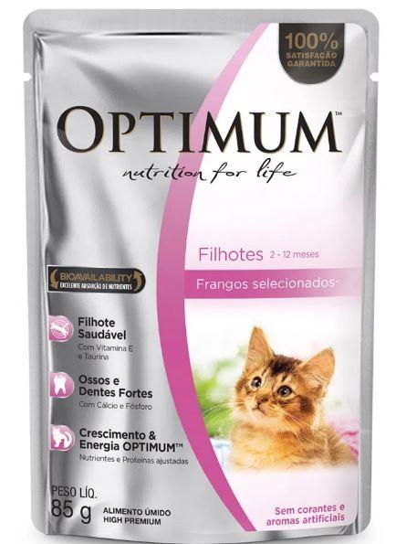 Sachê Optimum para Gatos Filhotes- 85g