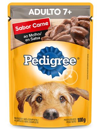 Sachê Pedigree Carne ao Molho para Cães Sênior 7 + Anos - 100 g