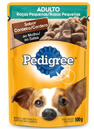 Sachê Pedigree Cordeiro ao Molho para Cães Adultos de Raças Pequenas - 100 g