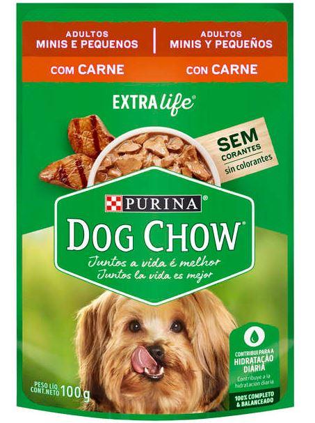 Sachê Purina Dog Chow Carne para Cães Adultos Raças Pequenas 100g