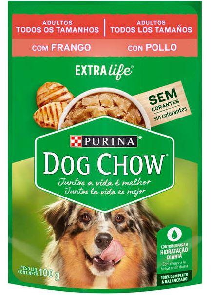 Sachê Purina Dog Chow Frango para Cães Adultos 100g