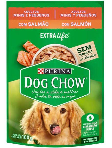 Sachê Purina Dog Chow Salmão para Cães Adultos Raças Pequenas 100g