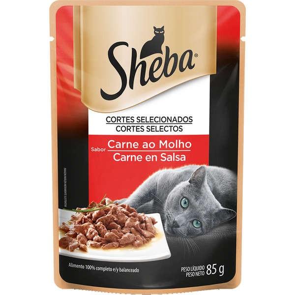 Sachê Sheba Sabor Carne ao Molho para Gatos Adultos - 85 g