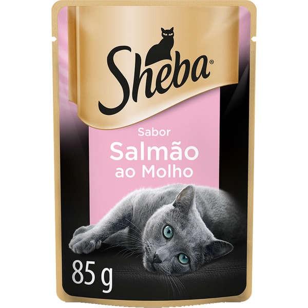 Sachê Sheba  Sabor Salmão ao Molho para Gatos Adultos - 85 g