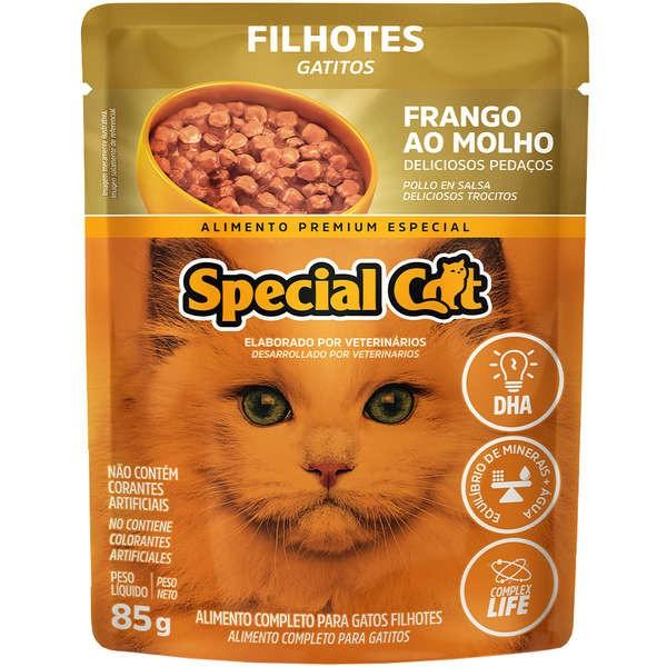 Sachê Special Cat Frango  para Gatos Filhotes 85g