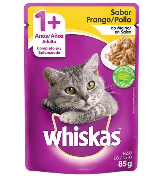 Sachê Whiskas Frango ao Molho para Gatos Adultos 85g
