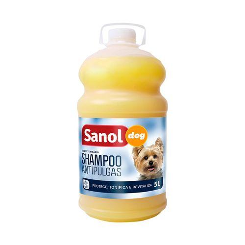 Shampoo Antipulgas Sanol Dog Para Cães - 5 Litros