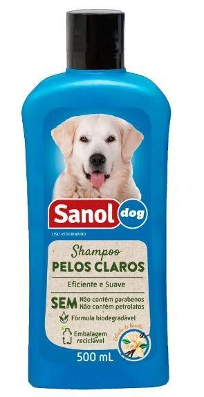 Shampoo Sanol Dog Pelos Claros - 500 mL