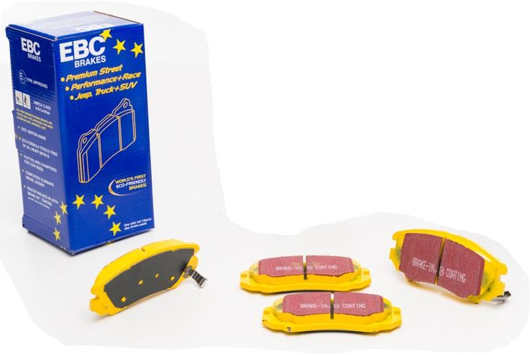 Pastilhas de freio dianteira EBC YellowStuff - Azera